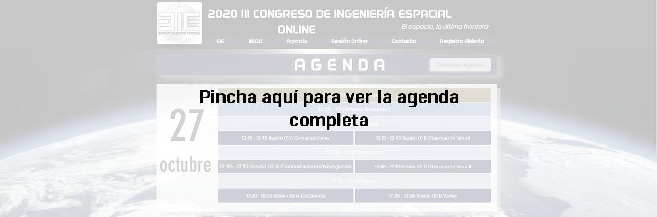 agenda congreso espacio